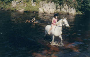 Pony trekking in the Spey